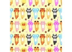 老虎卡通动物背景