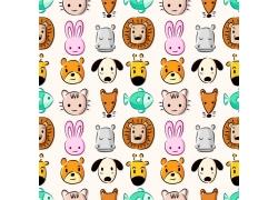 狮子老虎卡通动物背景
