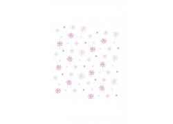 雪花小花背景