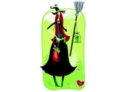 卡通美女巫师图片