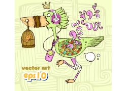 卡通巨嘴鸟图片