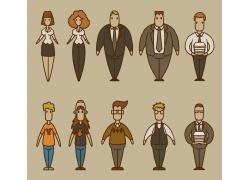 卡通矢量人物背景图案图片