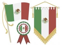 墨西哥国旗图案背景