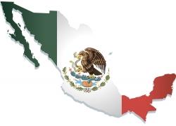 墨西哥地图与国旗