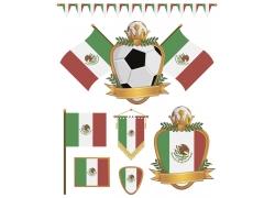 墨西哥国旗背景图案