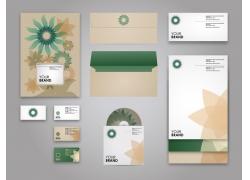 绿色花朵VI模板