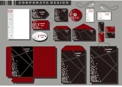 红色个性VI模板
