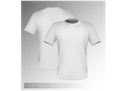 女式白色T恤模板