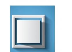 白色立体方块背景