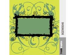 卷纹花纹边框图案