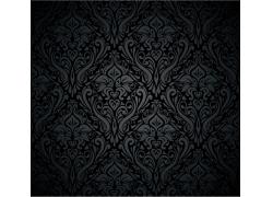 黑色背景矢量花纹图案