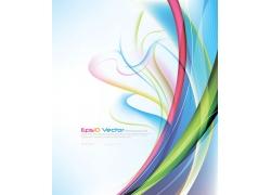 彩色动感线条背景图案