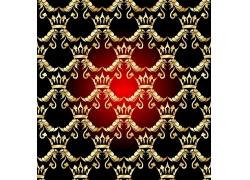 暗红背景皇冠花纹图案