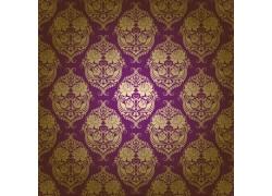 紫色背景精美花纹图案