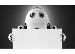 拿着白板的机器人