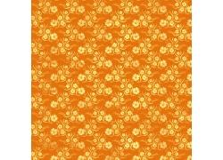 橙色背景四叶草图案