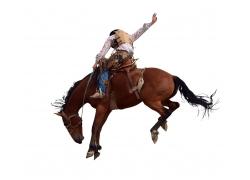 骑马的西部牛仔男人