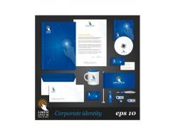 蓝色系简约公司VI设计模板