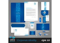 蓝色系简约企业VI设计模板