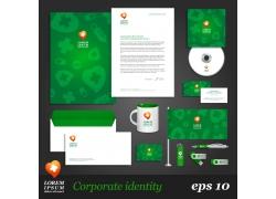 绿色调简约企业VI设计模板