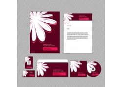 红色典雅的公司VI设计模板
