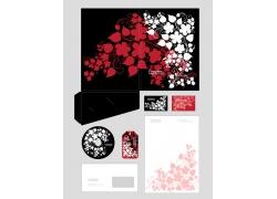 花朵风格的公司VI设计模板