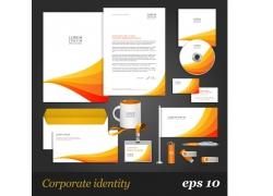 简约橙白色系公司VI设计模板