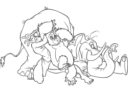 卡通动物与人猿泰山图片