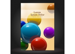 玻璃球风格的画册设计模板图片