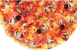 美味的披萨局部