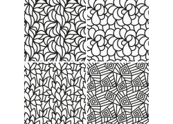 传统花纹树叶无缝背景