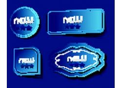 蓝色标题框素材
