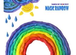 橡皮泥彩虹