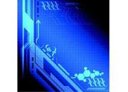 蓝色科技背景素材