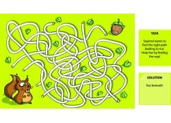 卡通松鼠与迷宫图案图片