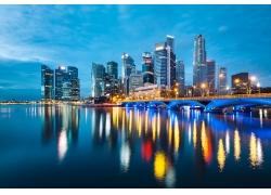 城市大桥风景图片图片