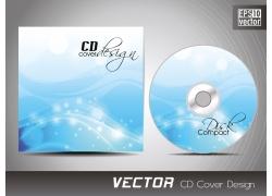 蓝色梦幻花纹CD盒设计