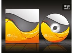 时尚花纹CD盒设计