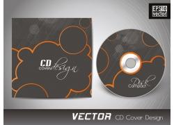 简约黑色CD封面设计