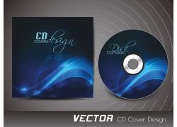 蓝色梦幻花纹CD封面设计