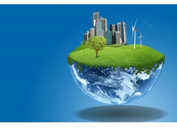 创意地球上的风力发电