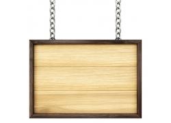 方形木质路标