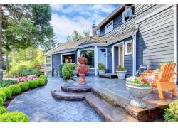 高档别墅花园图片