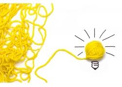 黄色毛线和灯泡