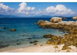 碧海蓝天海滩风光