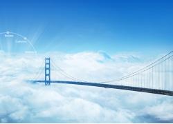 美丽大桥与天空风景