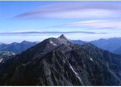 蓝天下的高峰美景
