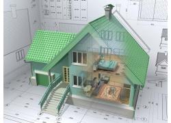三维别墅建筑效果图图片
