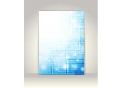 梦幻蓝色方框背景底纹