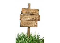 木板指示牌